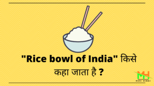 Rice Bowl of india